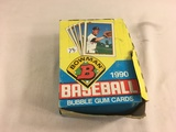 Box has Been Open- But, each Package Still Sealed - 1990 Bowman Baseball Bubble Gum Player Cards