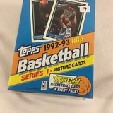 New Sealed in Box - Topps 1993 NBA Basketball Series 1 Picture Cards Sport Trading Cards