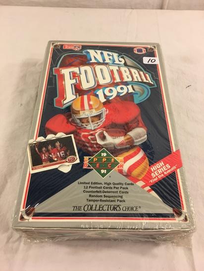 Collector Loose in Box But, Sealed in Package -1991 Upper Deck Football Trading Cards