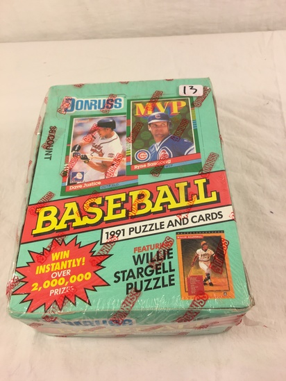 Collector Loose in Box But, Sealed in Package -1991 Donruss Baseball Puzzle and Sport Cards