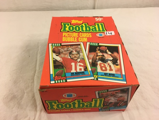 Collector Loose in Box But, Sealed in Package -1990 Topps Football Picture Cards Bubble Gum