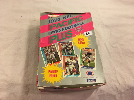 Collector Loose in Box But, Sealed in Package -1991 Pacific NFL Pro Footbal Plus Super Hi Gloss Card
