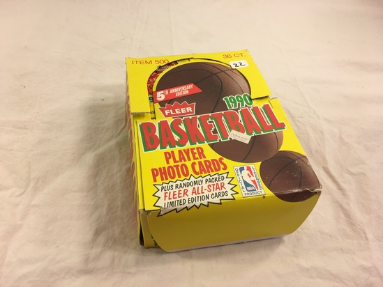 Collector Loose in Box But, Sealed in Package -1990 Fleer Basketball Player Photo Sport Cards
