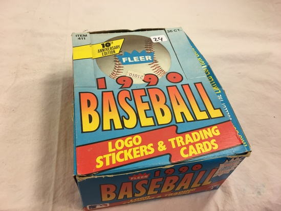 Collector Loose in Box But, Sealed in Package -1990 Fleer Baseball Stickers & Trading Sport Cards