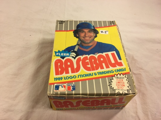 Collector Loose in Box But, Sealed in Package -1989 Fleer Baseball Stickers & Trading Sport cards