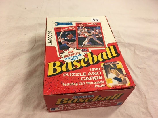 Collector Loose in Box But, Sealed in Package -1990 Donruss Baseball Puzzle and Sport Cards