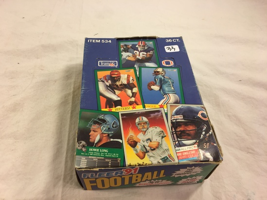Collector Loose in Box But, Sealed in Package -1991 Fleer Football Pro-Vision Sport Trading Cards