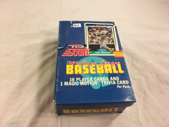 Collector Loose in Box But, Sealed in Package -1989 Score Major Lague Baseball Cards & Trivia Cards