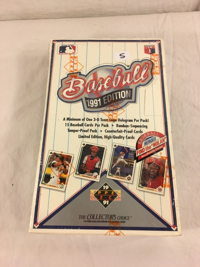 Collector Loose in Box But, Sealed in Package -1991 Upper Deck Baseball Cards