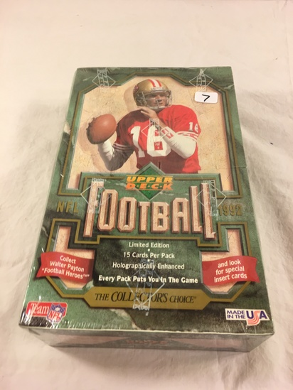 Collector Loose In Box But, Sealed in Package -1992 Upper Deck NFL Football Limited Edition Cards