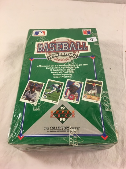 Collector Loose in Box But, Sealed In Package -1990 Upper Deck Baseball Trading Cards