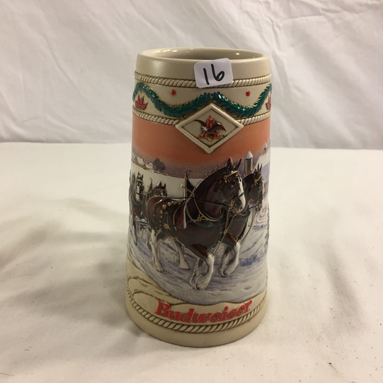 "Collector 1996 Budwieser Holiday Stein Amerian Homestaed Ceramic Size: 6.7/8""Tall"