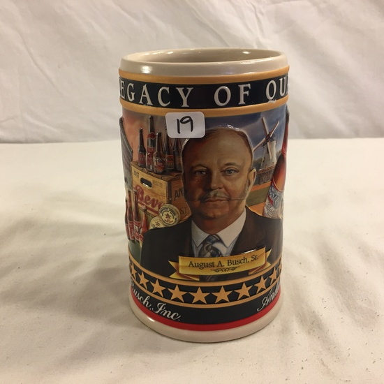 2002 Anheuser-Busch Family Series  A Legacy  Of Quality Stein/Mug Ceramic 6.1/4""