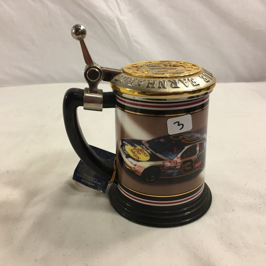 "Collector Nascar The Bass Pro Shop car Dale earnhardt #3 Ceramic Stein Glass 4.1/2""tal"