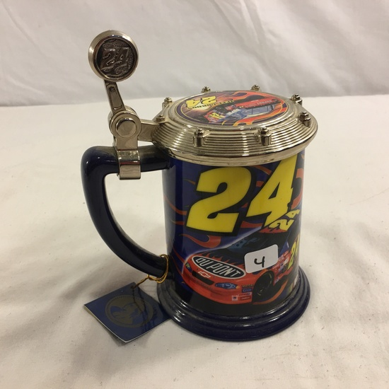 "Collector Nascar The Jeff Gordon #24 Track Burner Ceramic Stein Size:4.1/2""Tall"