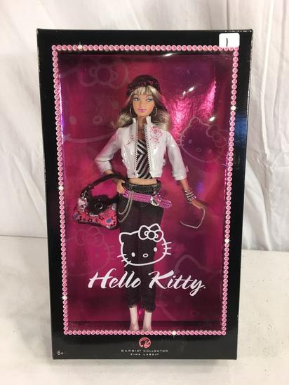 "Collector NIB Barbie Pink Label Hello Kitty Barbie Mattel Doll 14""Tall Box"