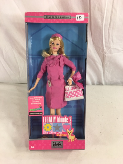 "Collector Barbie Mattel Doll Collector Edition Legally Blonde 2 Doll 12.5""tall Box"