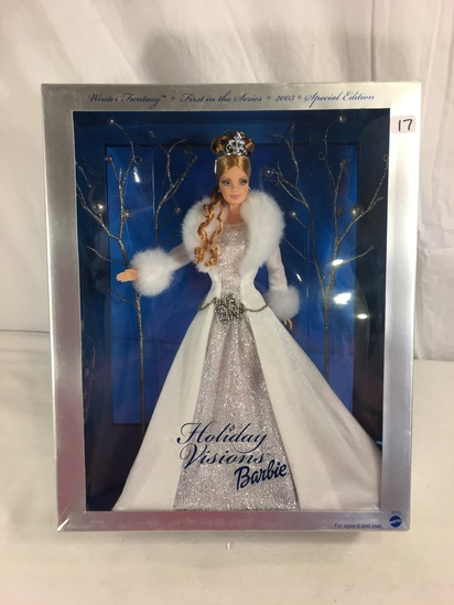 "Collector NIB Barbie mattel Winter Fantasy 1st in The Series 2003 Special Edt. 14""Tall Box"