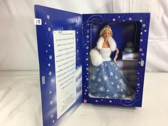 "Collector Barbie Mattel Snow Sebsation Barbie Mattel Doll 13.5""Tall Box"