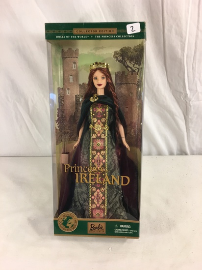 "Collector NIB Barbie Dolls OF The World The Princess Of Ireland Doll 13""tall Box"