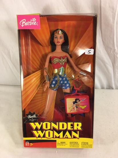 """Collector NIB Barbie Mattel Wonder Woman Barbie Mattel Dol 13""""Tall Box"""