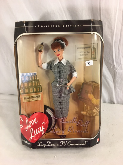 "Collector Mattel I Love lucy Starring Lucille Ball as Lucy Ricardo Doll 14""Tall Box"