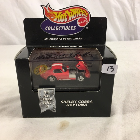 Collector NIP Hot Wheels Collectibles Ltd. Shelby Cobra Daytona Multi-Piece Collector Quality Car