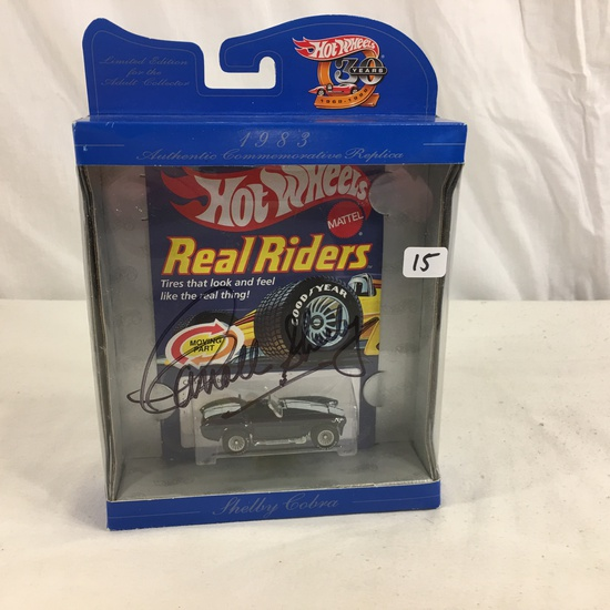 Collector NIP Hot Wheels Real Riders Hand Signed AutoGraph Corrall Shelby Classic Cobra No.4369