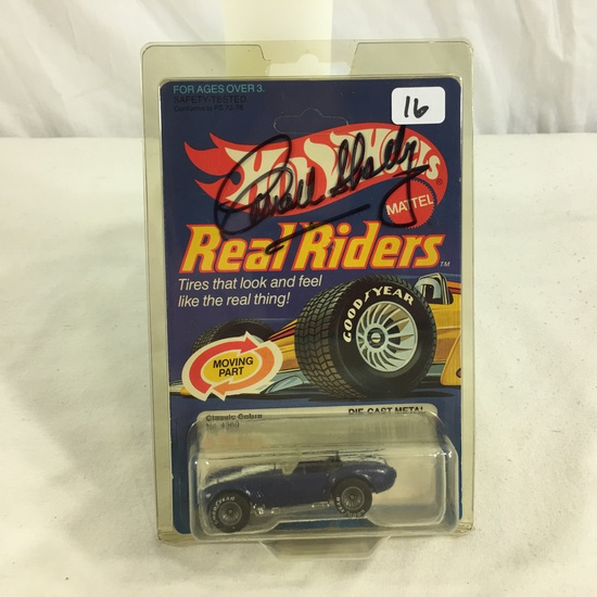 Collector NIP Hot Wheels Real Riders Hand Signed AutoGraph Corrall Shelby Classic Cobra