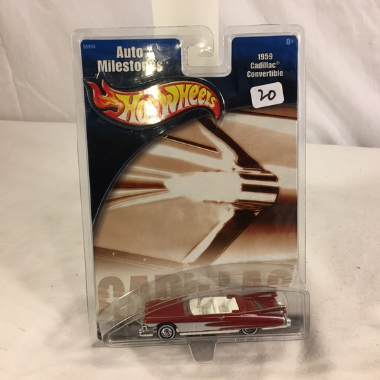 Collector NIP Hot Wheels Auto Milestones 1959 Cadillac Convertible No.55934 Scale 1/64 DieCast Car