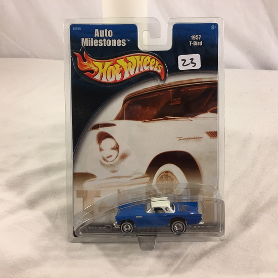 Collector NIP Hot Wheels Auto Milestones 1957 T-Bird No. 55935 Scale 1/64 Diecast Car
