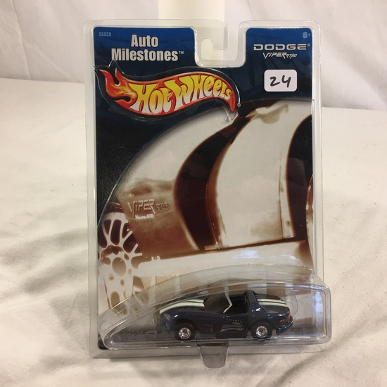 Collector NIP Hot Wheels Auto Milestones Dodge Viper RT/10 No. 55928 Scale 1/64 Diecast car
