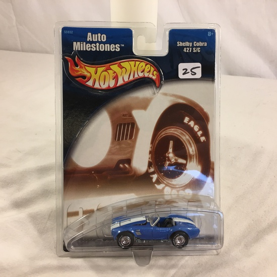 Collector NIP Hot Wheels Auto Mlestones Shelby Cobra 427 S/C No. 55932 Scale 1/64 Scale Diecast Car