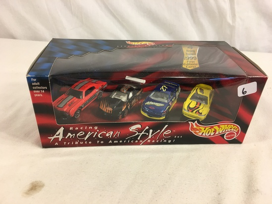 Collector NIP Hot Wheels Racing American Style Set Special Edition Set of 4 Nascar 1/64 Scale