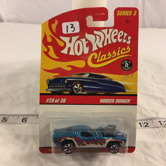 NIP Collector Hot wheels Classics 1/64 Scale Red Line Wheels DieCast Rodger Dodger #28 Of 30 Car