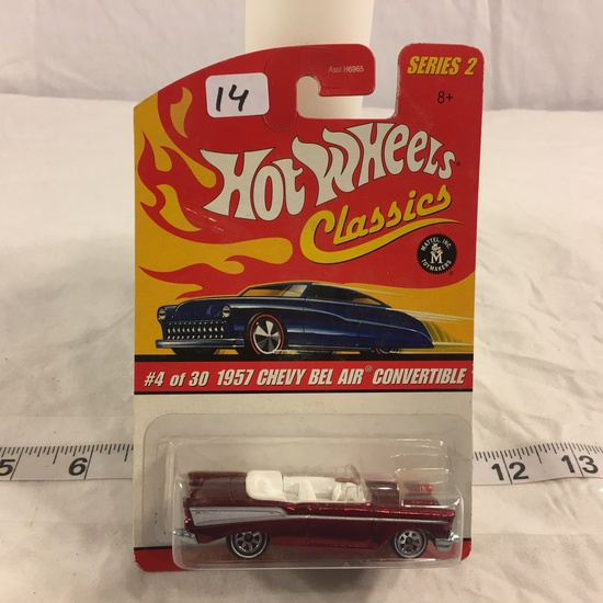 NIP Collector Hot wheels Classics 1/64 Scale Red Line Wheels Car 1957 Chvey Bel Air Convertible  #4