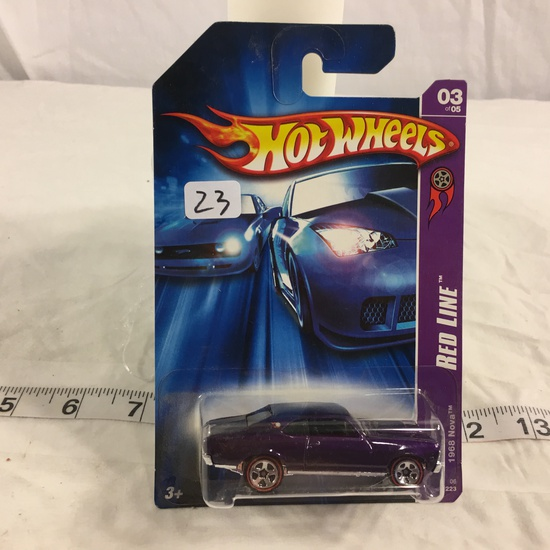 NIP Collector Hot wheels 1/64 Scale DieCast Metal & Plastic Parts Red Line 1968 Nova 3/5 Car