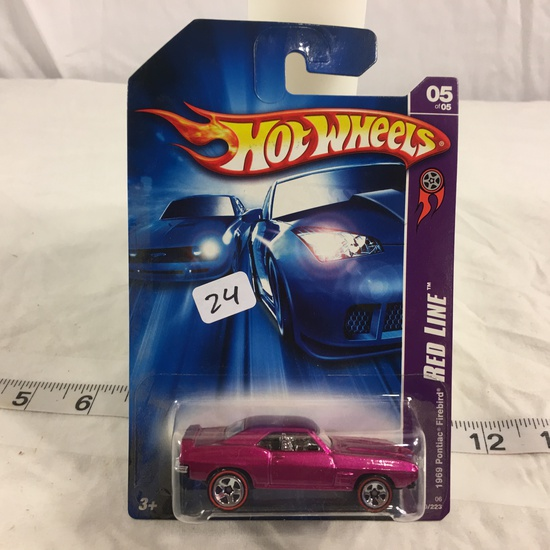 NIP Collector Hot wheels 1/64 Scale DieCast Metal & Plastic Parts Red Line 1969 Pontiac Firebird