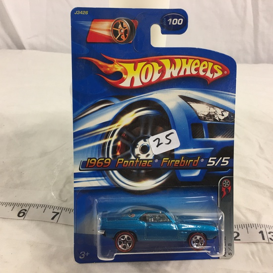 NIP Collector Hot wheels 1/64 Scale DieCast Metal & Plastic Parts  Red Line 1969 Pontiac Firebird 5/