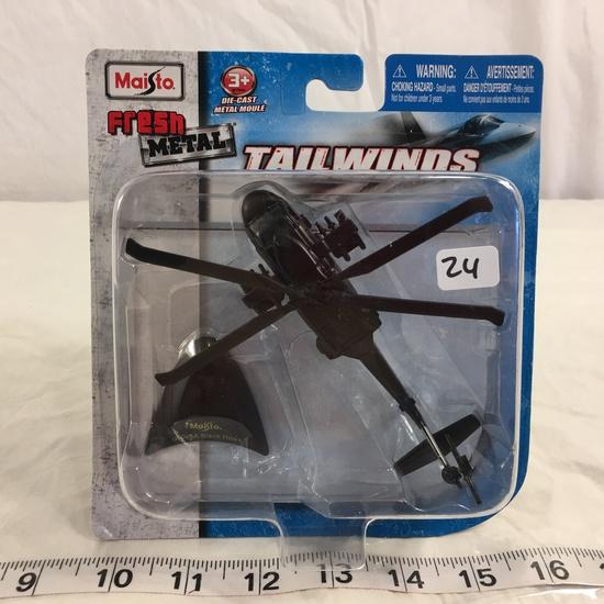 "NIP Collector Maisto Fresh Metal Tailwinds DieCast metal ""UH-60A Black Hawk Plane"