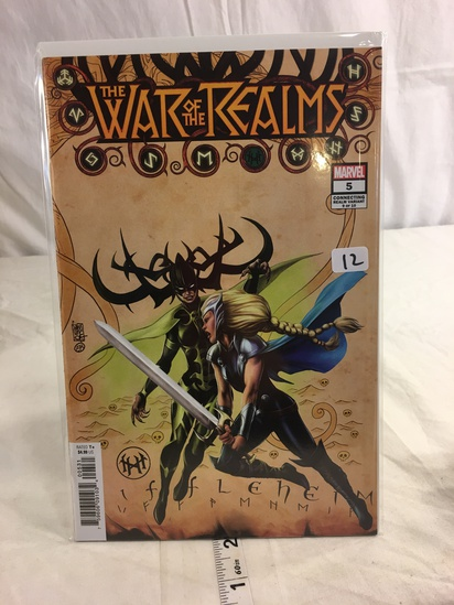 Collector Marvel Comics The War Of The Realms #5 Connecting Realm Variant 9 Of 10