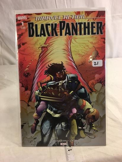 Collector Marvel Comics Marvel Atcion Black Panther Comic Book IDW No.1