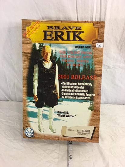 "Collector Marx Toys Brave Erik No.5430 The Viking 2001 Release Viking warrior Figure 14""T"