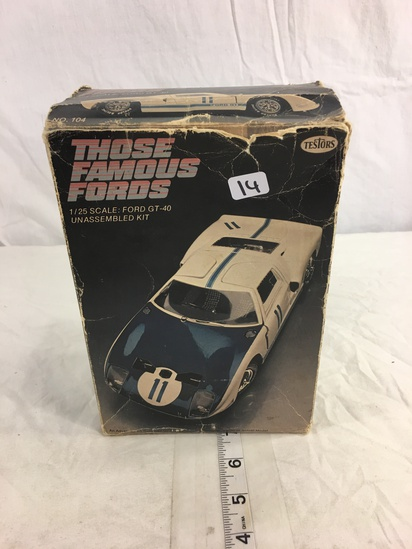 Collector Loose in Box Those Famous Fords 1/25 Scale Ford GT -40 Unassemble Kit