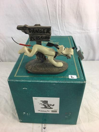 "Collector Walt Disney The Delivery Bnoy Pluto Dynamite do Figurine Box 11.5x7.5x7.5"""