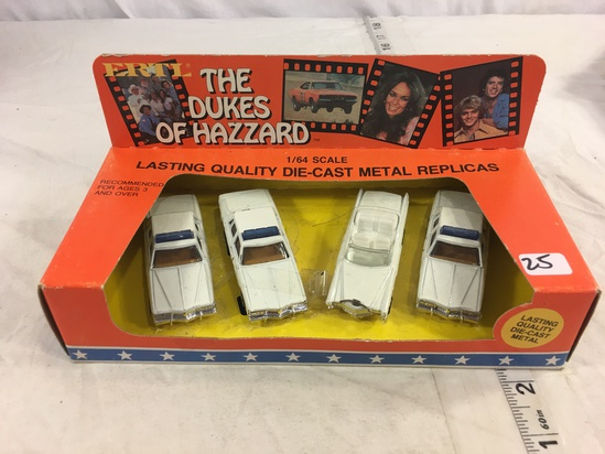 Collector Loose in Box The Dukes Of Hazzard Die-cast Metal 1/64 Scale