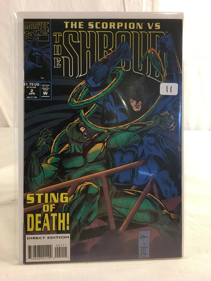 Collector Marvel Comics The Scorpion VS The Shroud Comic Book NO.2 Sting Of Death