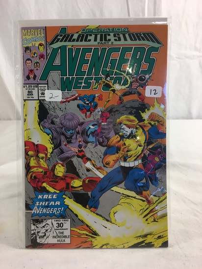 Collector Marvel Comics Galactic Stor Part 2 Avengers West Coast Comic Book No.80