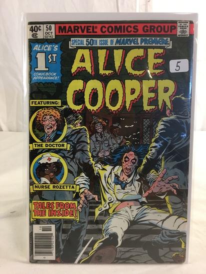 Colletcor Vintage Marvel Comics Alice Cooper Comic Book No.1 50th Premier Comics