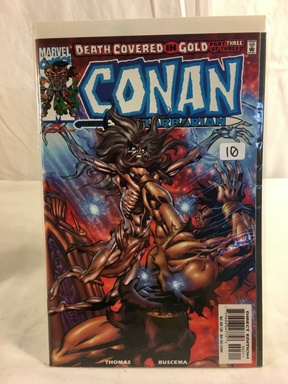 Collector Marvel Comics Death Covered in Gold 3 of 4 Conan The Barbarian Comic Book #3